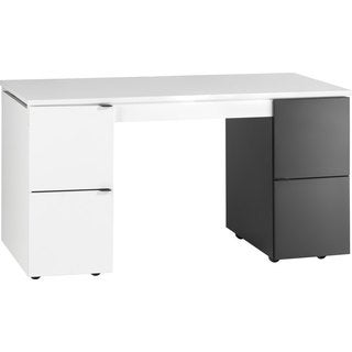 Voelkel Young Users Collection White Black Wood Converting Desk