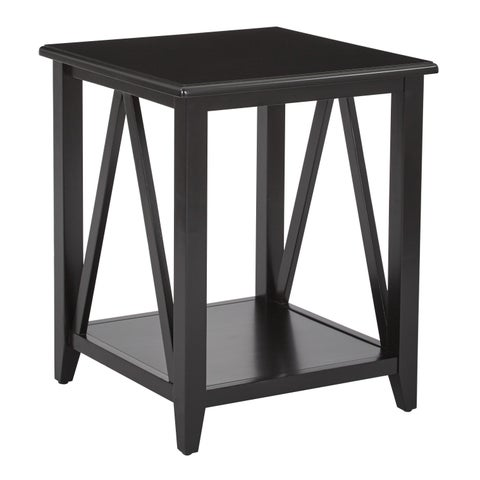 OSP Home Furnishings Santa Cruz Black End Table