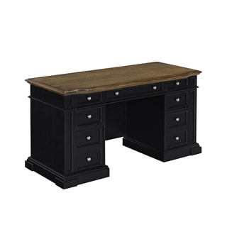 Americana Black Pedestal Desk by Home Styles
