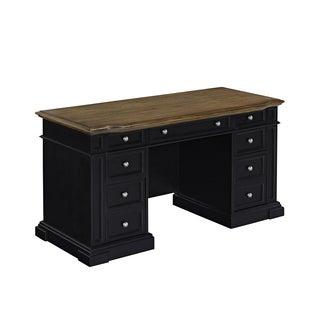 Americana Black Pedestal Desk by Home Styles