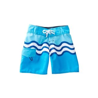 Azul Swimwear Boys' Riding Waves Blue Polyester Board Shorts