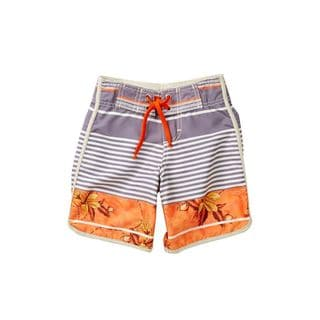 Azul Swimwear Boys' Urban Escape Orange Polyester Board Shorts