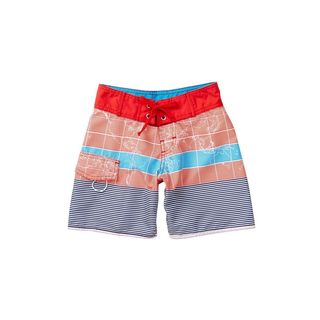 Azul Swimwear Boys' Going Global Multicolor Polyester Board Shorts