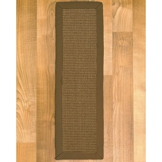 "Handcrafted Dalton Sisal Carpet Stair Treads 9"" x 29"" (Set of 13)"