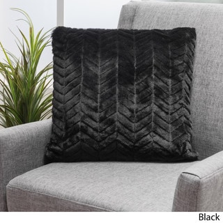 Christopher Knight Home Elise Faux Fur Square Throw Pillows (Set of 2)