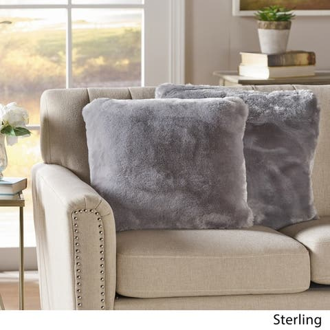 Christopher Knight Home Elise Faux Fur 18 inch Decorative Throw Pillows (Set of 2)
