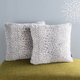 Elise Faux Fur Square Throw Pillows (Set of 2) by Christopher Knight Home