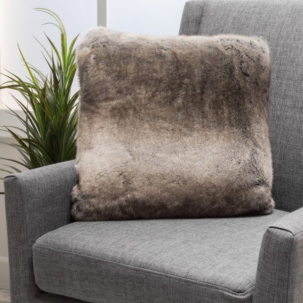 Elise Faux Fur 18-inch Square Throw Pillow by Christopher Knight Home