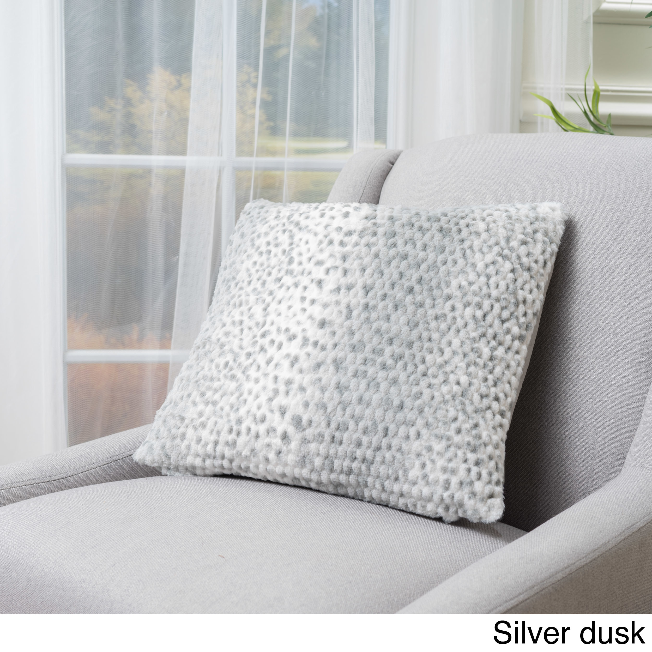 pillow river throw faux white and fur wooded pillows mink throws