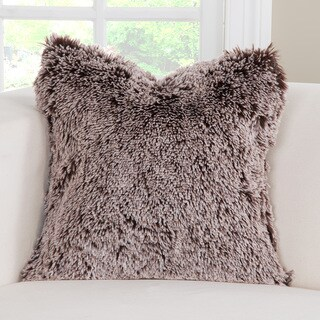 PoloGear Faux-Fur Bear Shag Designer Throw Pillow