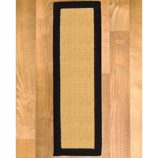 """Handcrafted Fusion Sisal Carpet Stair Treads 9"""" x 29"""" (Set of 13)"""