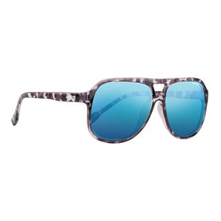 Nectar Revert Unisex Black Tortoise w/ Blue Mirror Sunglasses
