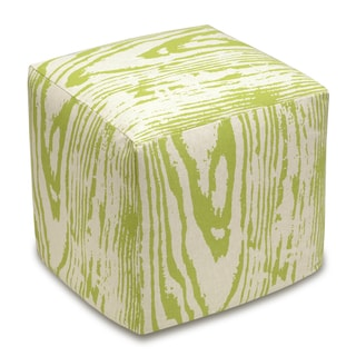 Link to Faux Bois Linen Upholstered Cube Ottoman Similar Items in Ottomans & Storage Ottomans