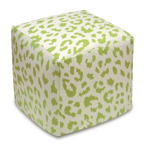 Cheetah Upholstered Cube Ottoman