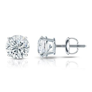 14kt Gold Round 1ct TDW GIA Certified Diamond Stud Earrings by Auriya