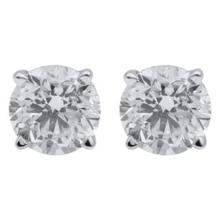 14k White Gold 1/4ct TDW Diamond Classic Stud Earrings (H-I, I1-I2)