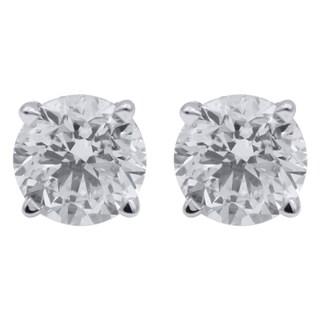 14k White Gold 1/4CTtw Diamond Stud Earring