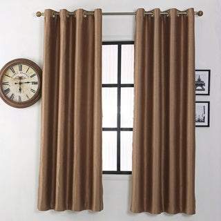 Utter Blackout Thermal Insulated Grommet Top Window Curtain Panel Pair