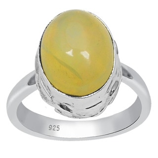 Orchid Jewelry 925 Sterling Silver 1.95 Carat Oval Cut Opal Ring