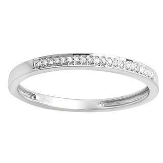 14k Gold Round Diamond Accent Wedding Anniversary Stackable Band (I-J, I2-I3)