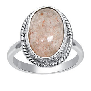 Orchid Jewelry 4 2/5 Carat Strawberry Quartz 925 Sterling Silver Handmade Ring