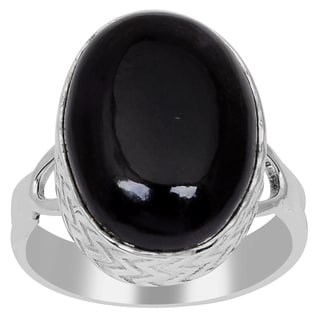 Orchid Jewelry 925 Sterling Silver 10 1/2 Carat Oval Cut Sugilite Gemstone Ring