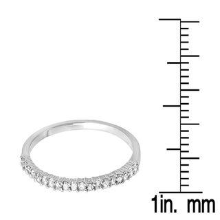 10k Gold 1/6ct TW Diamond Anniversary Wedding Band Stackable Ring (I-J, I2-I3)