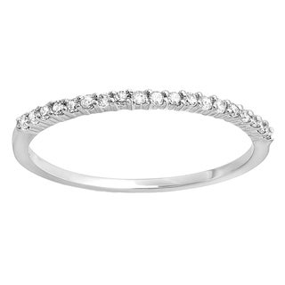 10k Gold 1/6ct TW Diamond Anniversary Wedding Band Stackable Ring (I-J, I2-I3)
