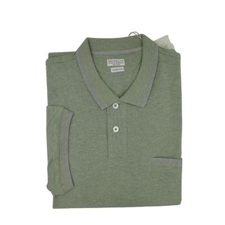 Brunello Cucinelli Green Short Sleeve Polo 3XL