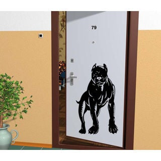 Pitbull Breed Decal Pet Animal Family Wall Decal Brit Sticker Dog Puppy Sticker Decal size 48x76 Col