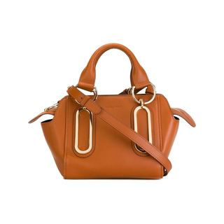 See by Chloe Paige Cognac Leather Handbag