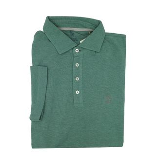 Brunello Cucinelli Dark Green Short Sleeve Polo S