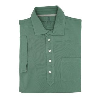Brunello Cucinelli Green Short Sleeve Polo M