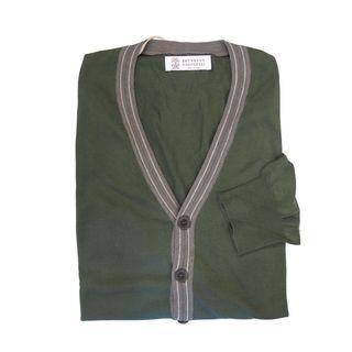 Brunello Cucinelli Green Cotton Sweater M
