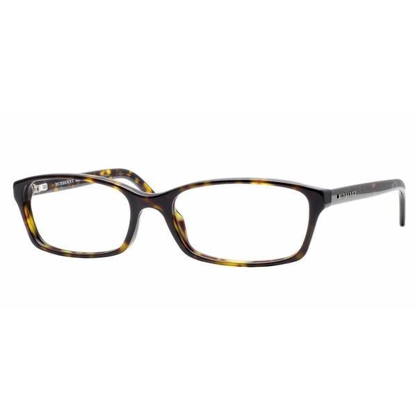 3137f5003ae7 Burberry Womens BE2073 3002 Havana Plastic Rectangle Eyeglasses - Tortoise