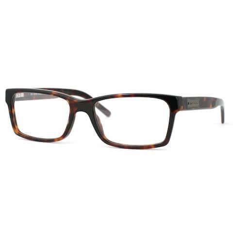 Burberry Mens BE2108 3002 Havana Plastic Square Eyeglasses - Tortoise