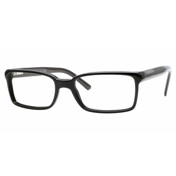 de3327a355ce Shop Burberry Mens BE2086 3001 Black Plastic Rectangle Eyeglasses ...