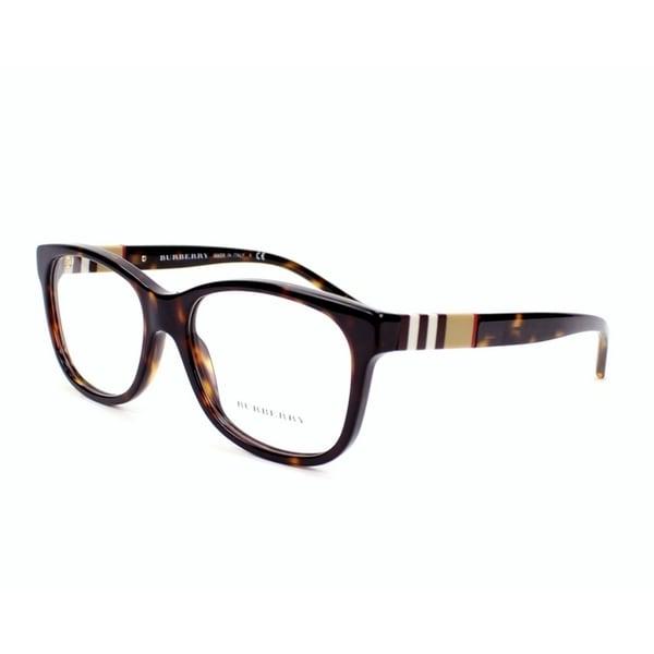 785503e154b Burberry Womens BE2204F 3002 Havana Plastic Square Eyeglasses - Tortoise