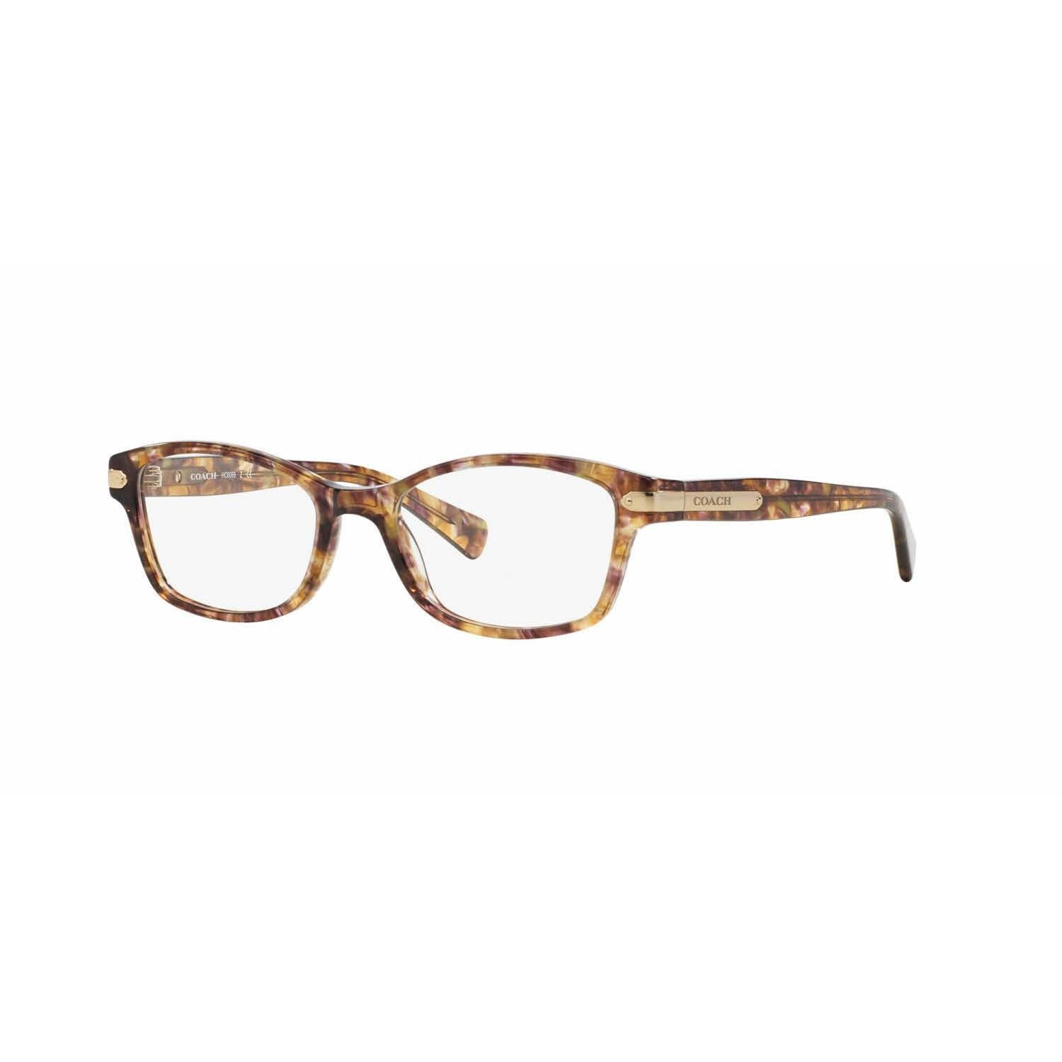 016d62752d8f Shop Coach Womens HC6065 5287 Light Brown Plastic Rectangle Eyeglasses -  Free Shipping Today - Overstock - 13613281