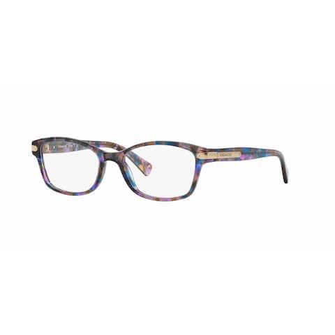 Coach Womens HC6065 5288 Violet Plastic Rectangle Eyeglasses