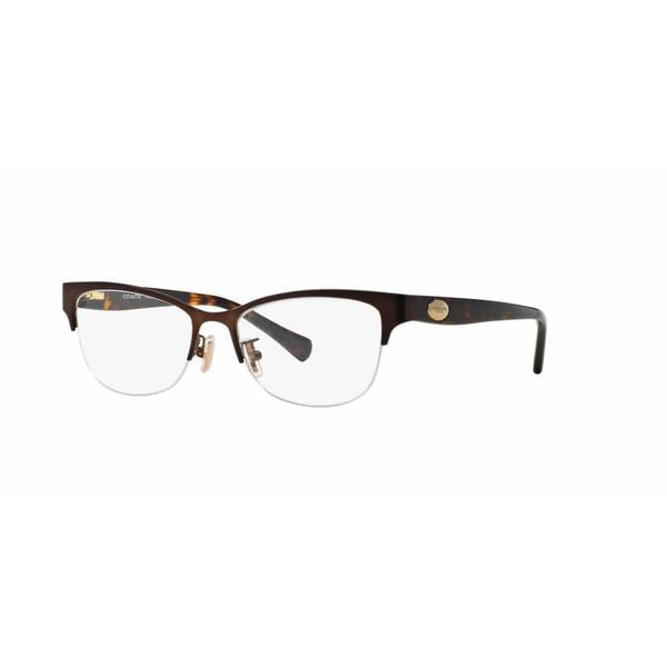 Coach Metal Eyeglass Frames : Coach Womens HC5066 9155 Brown Metal Cat Eye Eyeglasses ...
