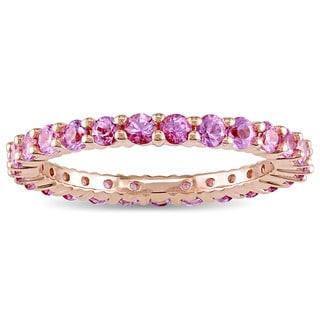 Miadora 14k Rose Gold Light Pink Sapphire Full-Eternity Ring