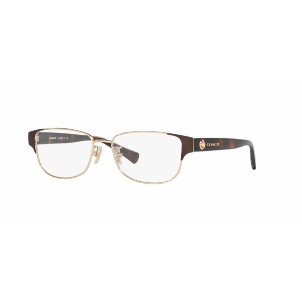 aeee83915b1 Shop Coach Womens HC5079 9258 Gold Metal Rectangle Eyeglasses - Brown -  Free Shipping Today - Overstock.com - 13613340