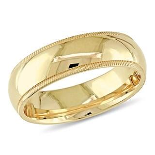 Miadora 14k High-Polish Yellow Gold Comfort Fit Ladies Wedding Band