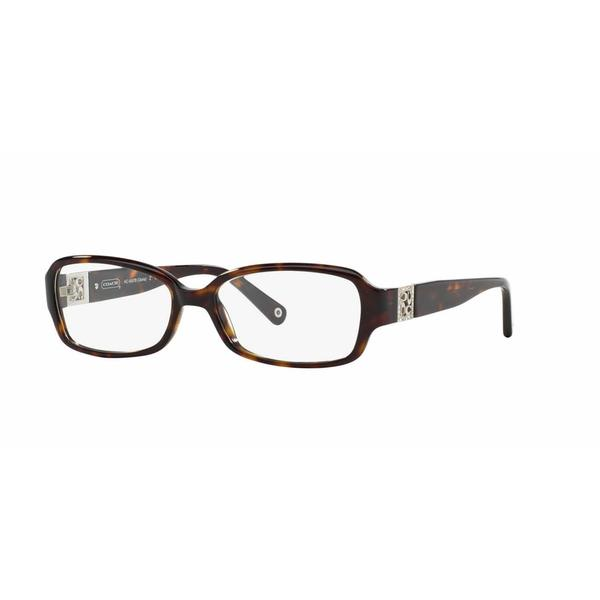 b447a4d44f Coach Womens HC6007B GLORIA 5001 Havana Plastic Rectangle Eyeglasses - Blue