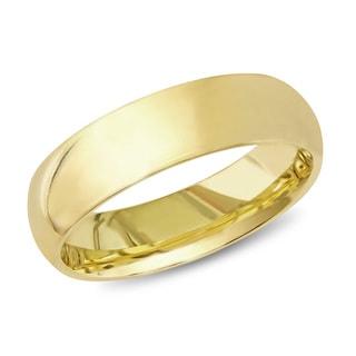 Miadora 14k Yellow Gold Men's Wedding Band