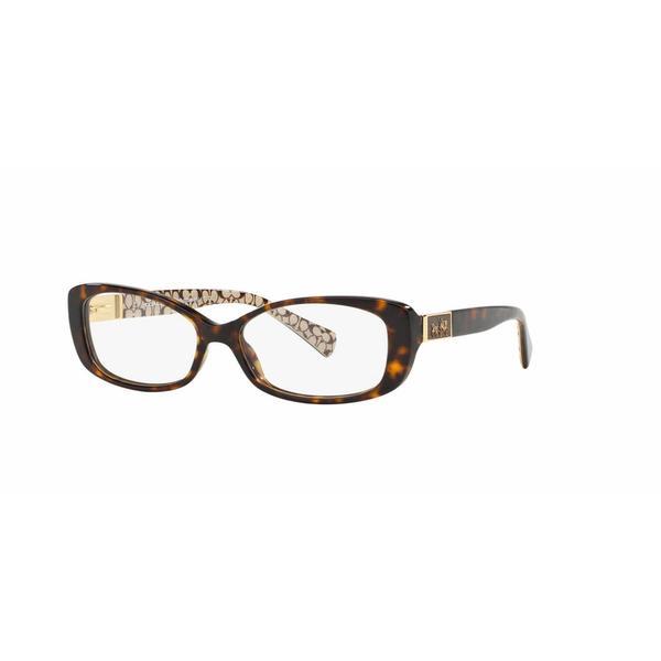 1d0e5f4f44 Coach Womens HC6063 ELIZABETH 5262 Havana Plastic Rectangle Eyeglasses