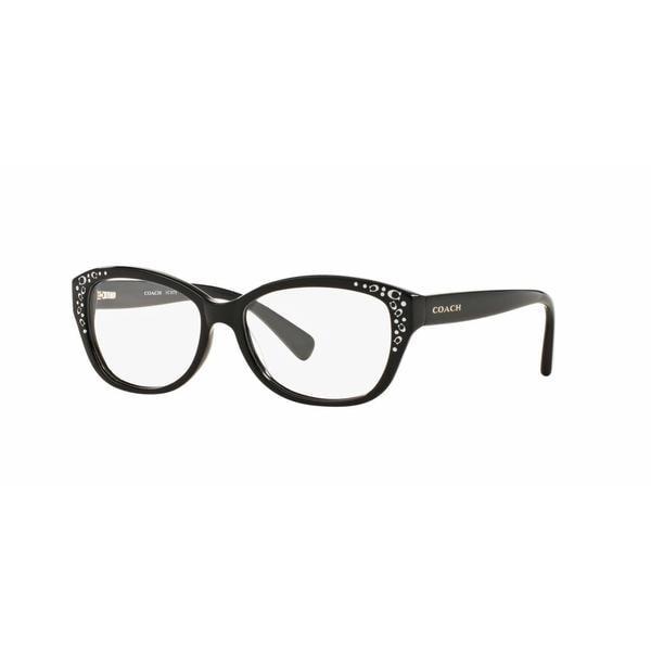 235c5b49c36f8 Shop Coach Womens HC6076F 5002 Black Plastic Cat Eye Eyeglasses ...