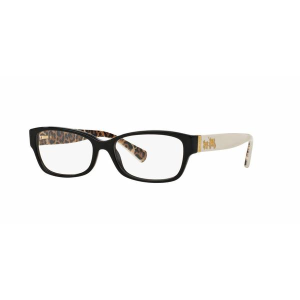 f2058b0bc8 Shop Coach Womens HC6078 5336 Black Plastic Rectangle Eyeglasses ...