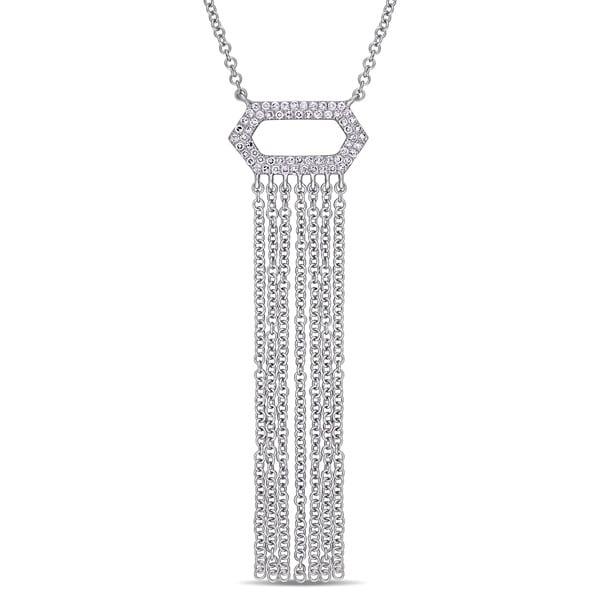 783190601e34a Shop Miadora Signature Collection 14k White Gold 1/6ct TDW Diamond ...